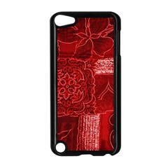 RED PATCHWORK Apple iPod Touch 5 Case (Black)