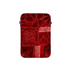 RED PATCHWORK Apple iPad Mini Protective Soft Cases