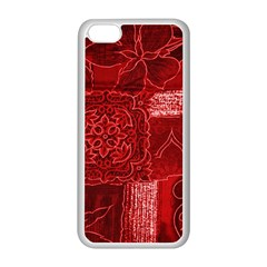 RED PATCHWORK Apple iPhone 5C Seamless Case (White)