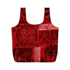 RED PATCHWORK Full Print Recycle Bags (M)