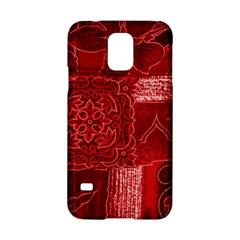 RED PATCHWORK Samsung Galaxy S5 Hardshell Case