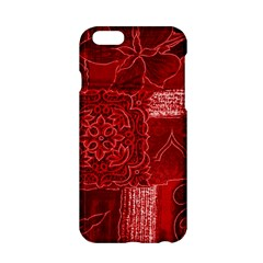 RED PATCHWORK Apple iPhone 6/6S Hardshell Case