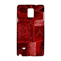 RED PATCHWORK Samsung Galaxy Note 4 Hardshell Case