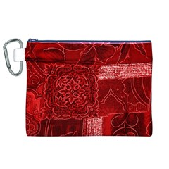 RED PATCHWORK Canvas Cosmetic Bag (XL)