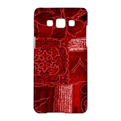 RED PATCHWORK Samsung Galaxy A5 Hardshell Case