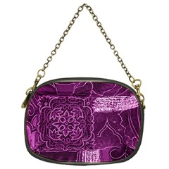 MAGENTA PATCHWORK Chain Purses (One Side)