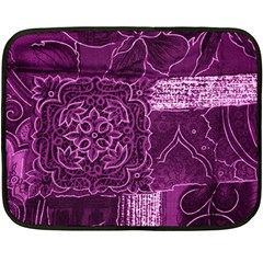 Magenta Patchwork Fleece Blanket (mini)