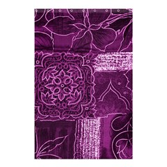 MAGENTA PATCHWORK Shower Curtain 48  x 72  (Small)