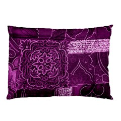 Magenta Patchwork Pillow Cases (two Sides)