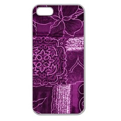 MAGENTA PATCHWORK Apple Seamless iPhone 5 Case (Clear)