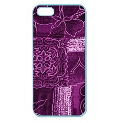 MAGENTA PATCHWORK Apple Seamless iPhone 5 Case (Color)