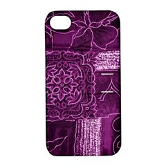 MAGENTA PATCHWORK Apple iPhone 4/4S Hardshell Case with Stand