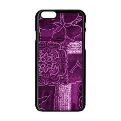 MAGENTA PATCHWORK Apple iPhone 6/6S Black Enamel Case