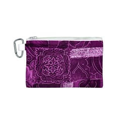 MAGENTA PATCHWORK Canvas Cosmetic Bag (S)