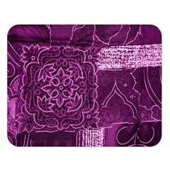 MAGENTA PATCHWORK Double Sided Flano Blanket (Large)