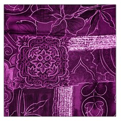 MAGENTA PATCHWORK Large Satin Scarf (Square)