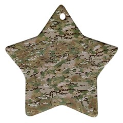 CAMO WOODLAND FADED Star Ornament (Two Sides)