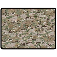 CAMO WOODLAND FADED Double Sided Fleece Blanket (Large)