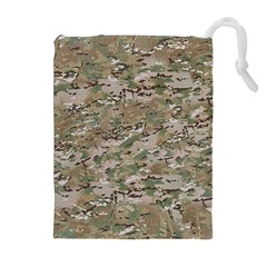 CAMO WOODLAND FADED Drawstring Pouches (Extra Large)