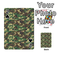 Camo Woodland Playing Cards 54 Designs