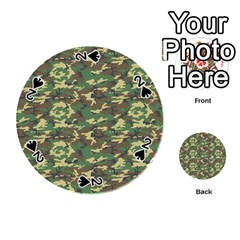 Camo Woodland Playing Cards 54 (round)