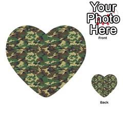 Camo Woodland Multi Purpose Cards (heart)