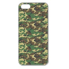 CAMO WOODLAND Apple Seamless iPhone 5 Case (Clear)