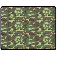 Camo Woodland Double Sided Fleece Blanket (medium)
