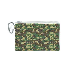 CAMO WOODLAND Canvas Cosmetic Bag (S)
