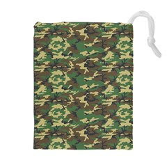 CAMO WOODLAND Drawstring Pouches (Extra Large)
