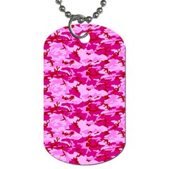CAMO PINK Dog Tag (One Side)