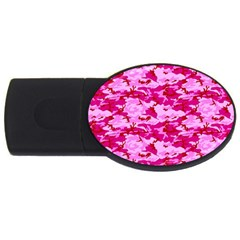 CAMO PINK USB Flash Drive Oval (1 GB)