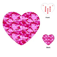 Camo Pink Playing Cards (heart)