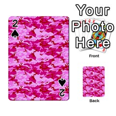 Camo Pink Playing Cards 54 Designs