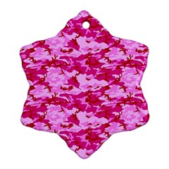 CAMO PINK Snowflake Ornament (2-Side)