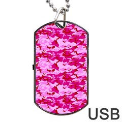 CAMO PINK Dog Tag USB Flash (Two Sides)