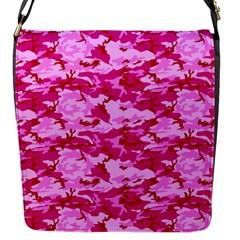 CAMO PINK Flap Messenger Bag (S)