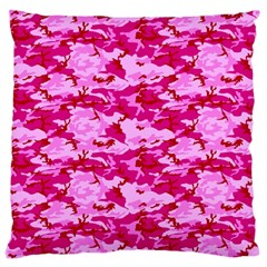 Camo Pink Large Flano Cushion Cases (two Sides)
