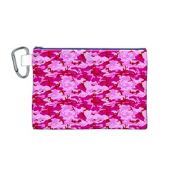 CAMO PINK Canvas Cosmetic Bag (M)