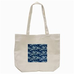 Camo Navy Tote Bag (cream)