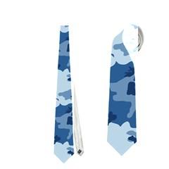 CAMO NAVY Neckties (One Side)
