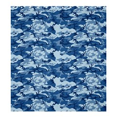 CAMO NAVY Shower Curtain 66  x 72  (Large)