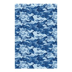 CAMO NAVY Shower Curtain 48  x 72  (Small)