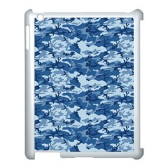 CAMO NAVY Apple iPad 3/4 Case (White)