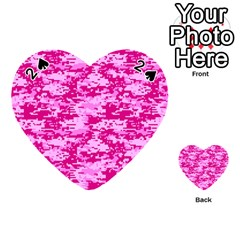 Camo Digital Pink Playing Cards 54 (heart)