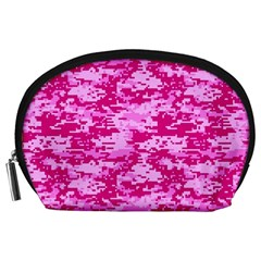 CAMO DIGITAL PINK Accessory Pouches (Large)