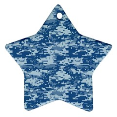 CAMO DIGITAL NAVY Star Ornament (Two Sides)