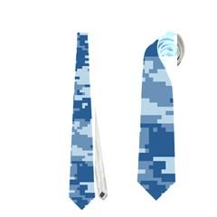 Camo Digital Navy Neckties (one Side)