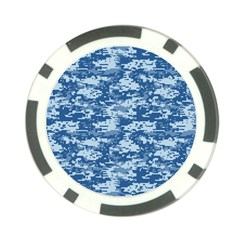 CAMO DIGITAL NAVY Poker Chip Card Guards