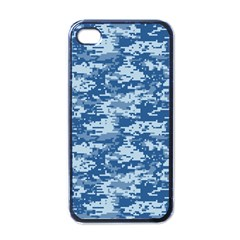 CAMO DIGITAL NAVY Apple iPhone 4 Case (Black)